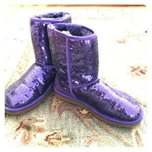 UGG Shoes - Purple sequin UGG boots